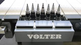 VOLTER 4020 CNC Router with ATC v-grooving and cutting ACP (Aluminium Composite Panel)