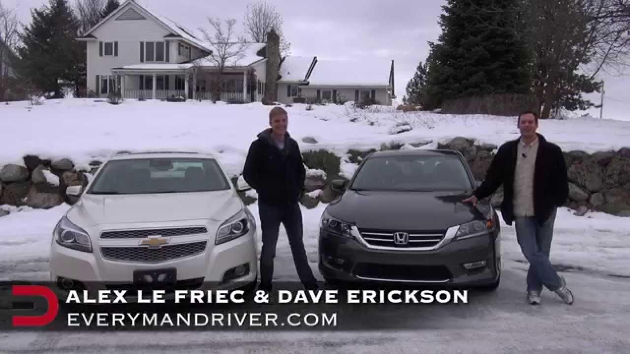 2013 honda accord vs chevrolet malibu on everyman driver for Chevy malibu vs honda accord