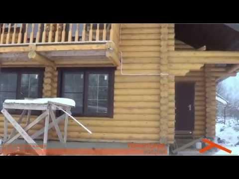 Дома из оцилиндрованного бревна, строительство, проекты