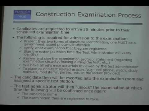 FL Contractors Exam PearsonVue CBT Examination Process