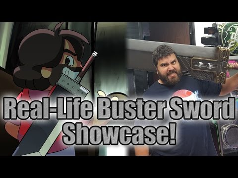 Final Fantasy VII Real-Life Buster Sword Showcase!