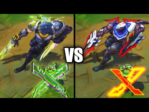 PsyOps Zed vs PROJECT Zed Epic Skins Comparison (League of Legends)