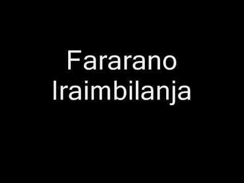 Fararano Iraimbilanja