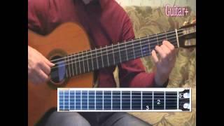 Как играть Город Золотой (Под небом голубым) 2 часть темы соло. Guitar Lessons.