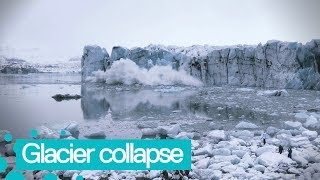 Huge Glacier Collapses in Iceland Lagoon