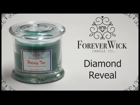 Forever Wick Candle - Holiday Tree Candle Diamond Reveal!