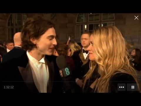 Timothée Chalamet interview at British Academy Film Awards