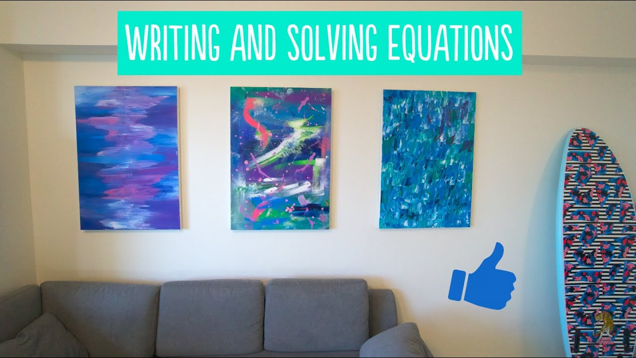 Writing and Solving Equations Warm-up