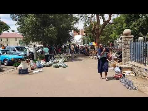 A walk around downtown Bulawayo, Zimbabwe