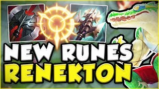 CAN THESE NEW RUNES BRING RENEKTON TO THE TOP AGAIN?! NEW RENEKTON TOP GAMEPLAY! - League of Legends