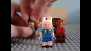 Lego custom minifigures Finn from adventure time and my sigfig!!!