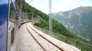 Train Subotica - Bar between Kolasin and Podgorica