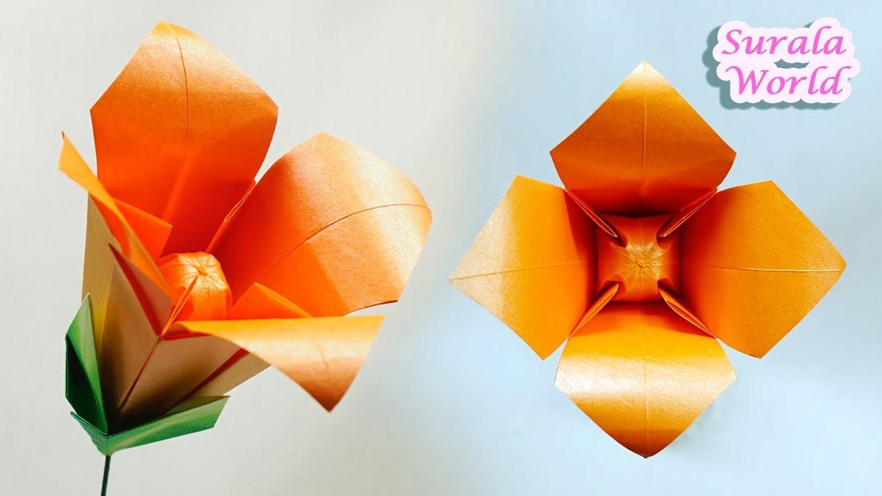Easy Fast Origami Iris Tutorial - YouTube | 720x1280