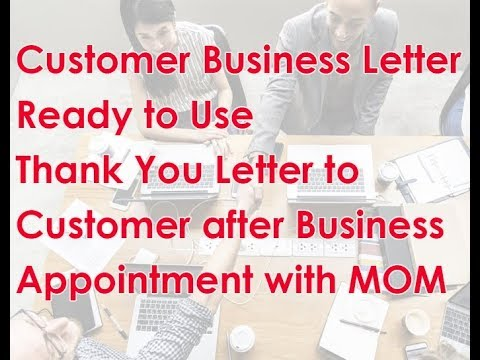 How To Send A Thank You Mail To A Customer After The Meeting With And Without MOM