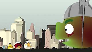 Repeat youtube video Zombie Birds - Angry Birds & The Walking Dead - Angry Birds vs Zombie