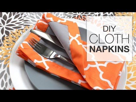 How to Sew Fabric Napkins (Tutorial) - YouTube