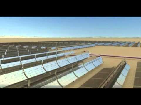 How does a parabolic trough plant work?
