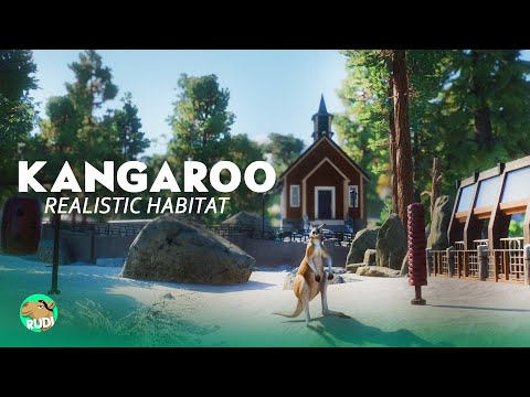 Realistic Kangaroo Habitat Yosemite Zoo - Planet Zoo Speedbuild |