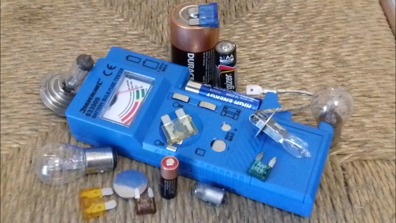 633909 BULB /& FUSE TESTER NEW SILVERLINE BATTERY