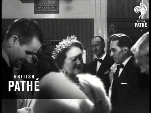 Queen Mother & Margaret At French Film Festival (1957)