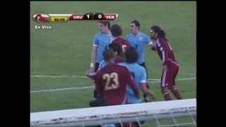 """Uruguay 1 Venezuela 1 Gol de Salomon """"EL GLADIADOR"""" Rondon """"Cortesía Meridiano TV"""""""