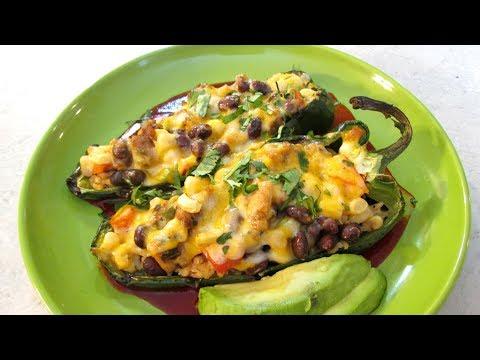 Southwestern Stuffed Peppers - Speedy Cooking Videos - PoorMansGourmet