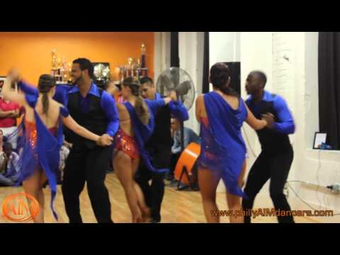 Art in Motion Pro Team Salsa Performance August 2013 Social
