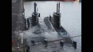Two Norwegian Submarines at Ocean Terminal, Leith 17 October 2009