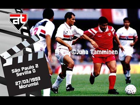 São Paulo 2x0 Sevilla - 1993 - Maradona Vs Rai