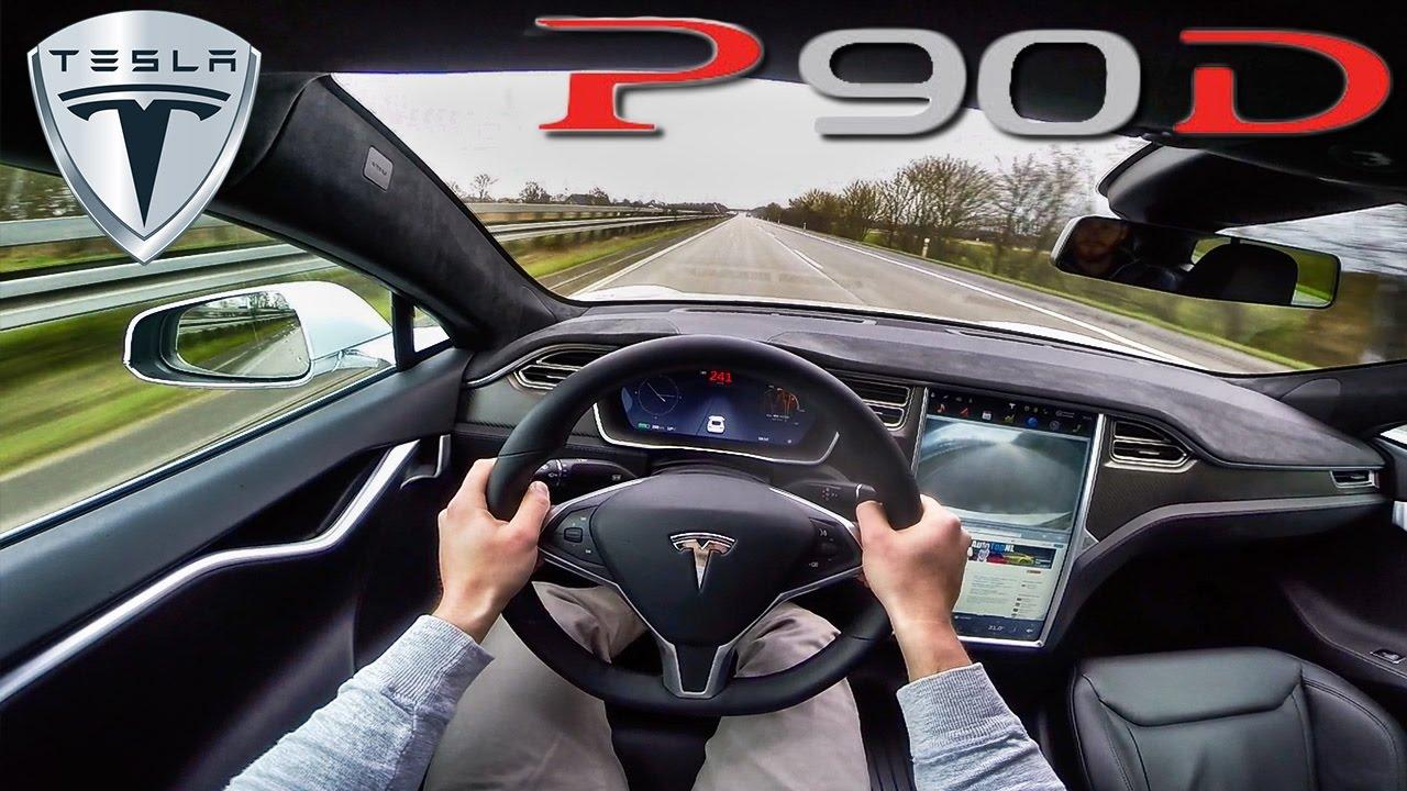Tesla Model S P90D 762 HP POV AUTOBAHN Acceleration AutoPilot & Ludicrous by AutoTopNL