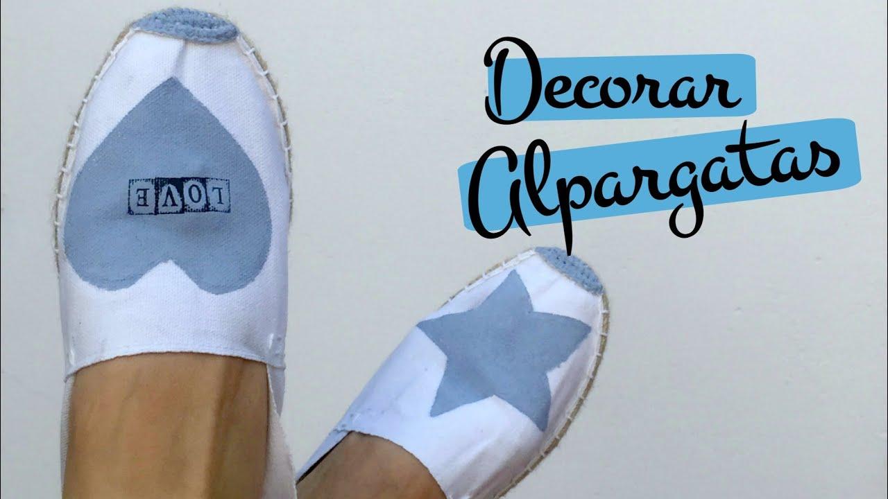 Tutorial DIYpara decorar zapatillas de esparto o alpargatas. Pinafili Films , YouTube