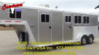 2006 Featherlite 3H with Cowboy Shower