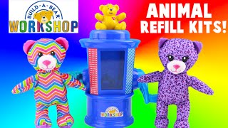 Build A Bear Workshop Stuffing Station Refill Kits - Purple Kitty and Rainbow Bear Toys