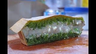 MARTABAK PANDAN DURIAN - Indonesian Street Food | GIANT PANCAKE KING OF FRUIT