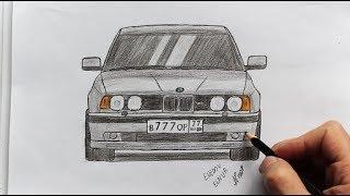 Как нарисовать машину BMW (Ehedov Elnur) Wie man ein Auto BMW zieht