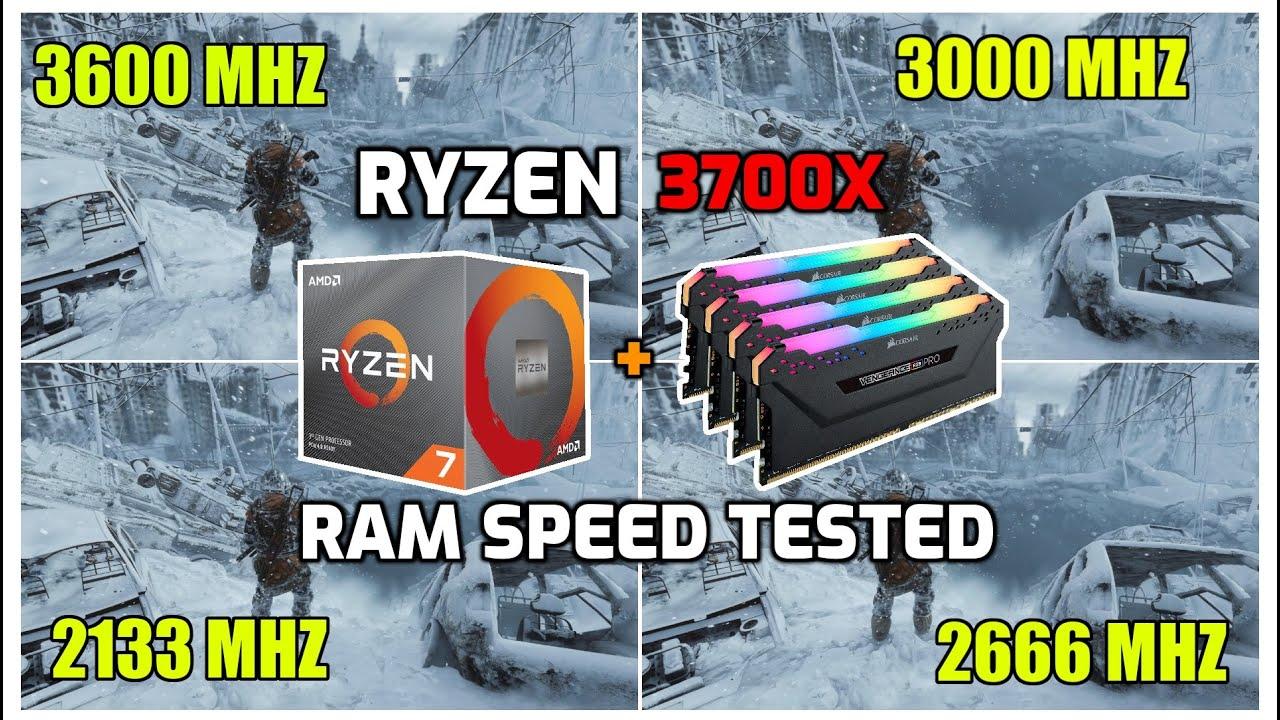 Ryzen 7 3700X - RAM Speed Tested in 12 Games (3600 Mhz to 2133 Mhz)