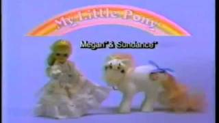 VINTAGE 80'S MY LITTLE PONY MEGAN AND SUNDANCE COMMERCIAL HQ