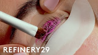 I Got A Lash Perm For The First Time | Macro Beauty | Refinery29