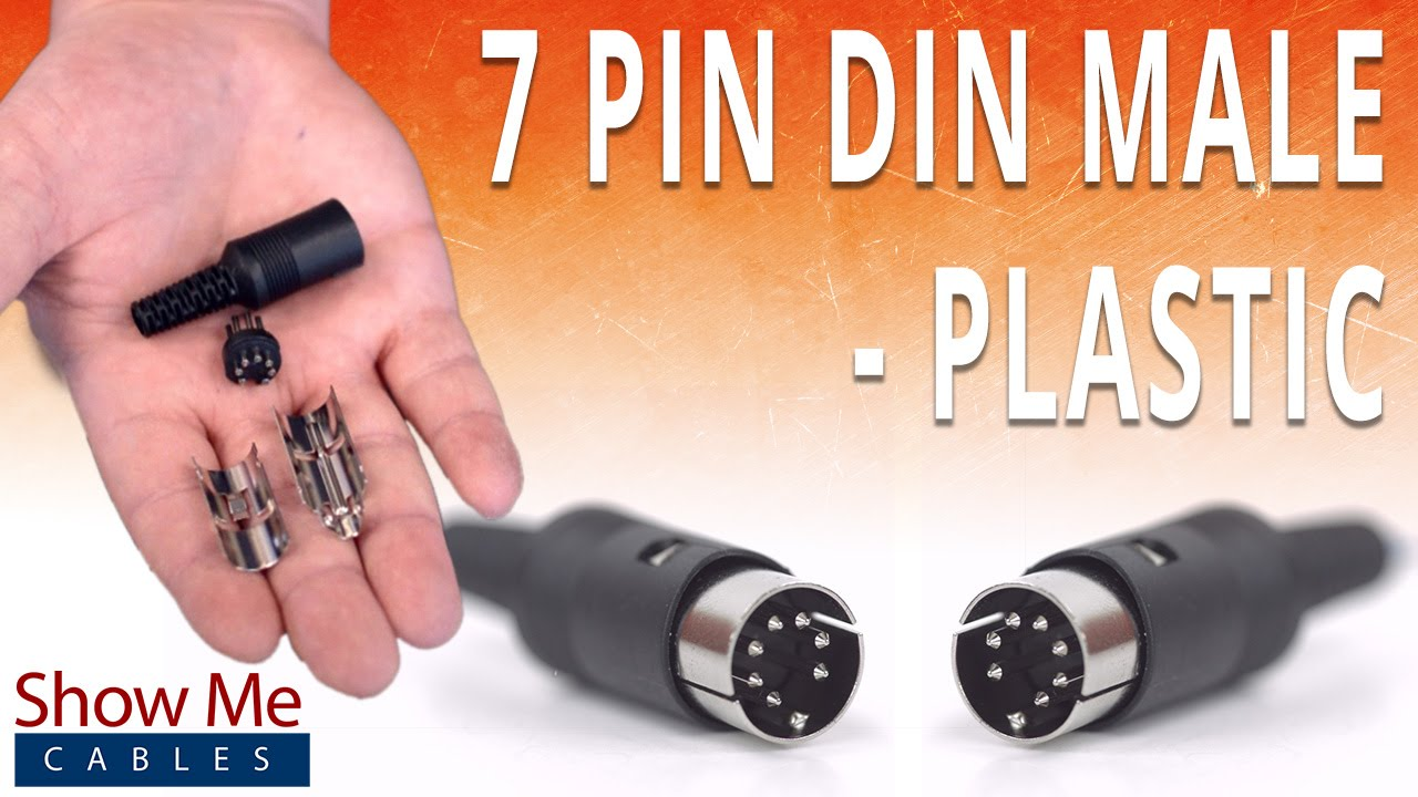 How To Install The 7 Pin Din Male Solder Connector - Plastic