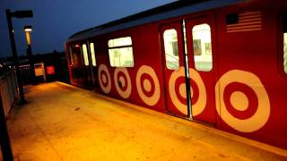 MTA NYC Subway Kawasaki R142A #7641 (6) Target Train BKLYN Bridge bound arriving at Castle Hill Ave