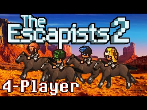 The Escapists 2: 4-Player - Rattlesnake Springs - Gold Rush (4-Player Gameplay)