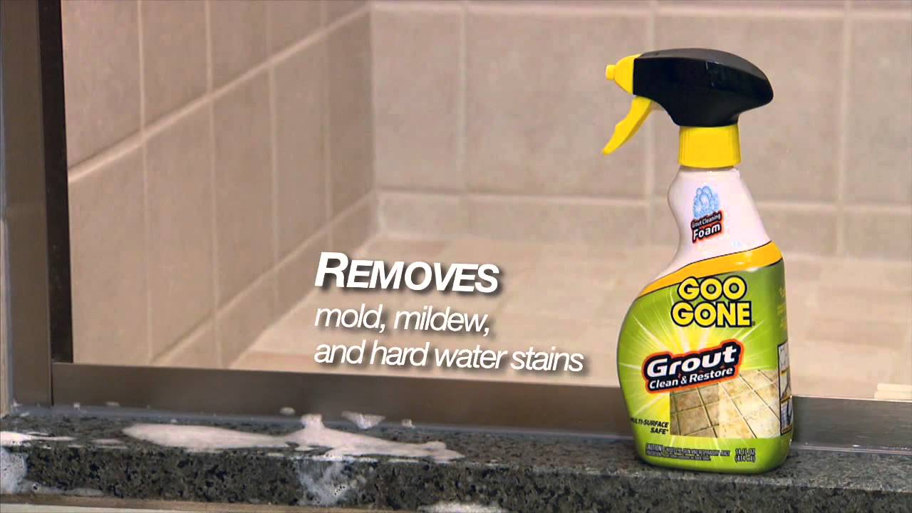 Cleaning Dirty Grout With Goo Gone® Grout Clean U0026 Restore   YouTube