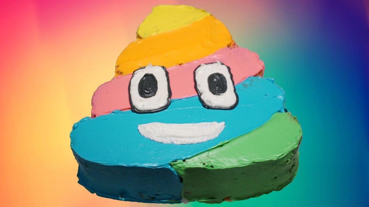 How To Make A Rainbow Poop Emoji Cake 🌈 Youtube