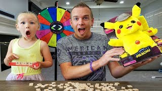 Kids Buy WHATEVER Dad Can SPELL Challenge! Mystery Wheel Decides!!