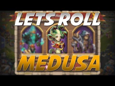 Castle Clash Let's Get Medusa! (Rolling GEMS)