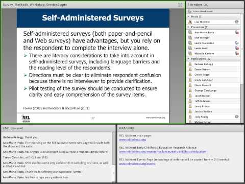 Survey Methods Workshop Administering A Survey Part 2