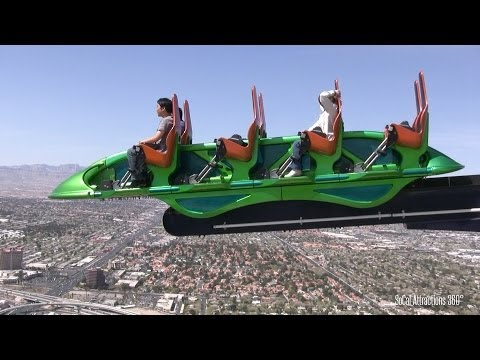 [HD] FULL Stratosphere Tower Tour - 4 Rides - Highest Thrill