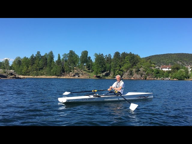 Rowing a Liteboat in Norway at 83 yo!