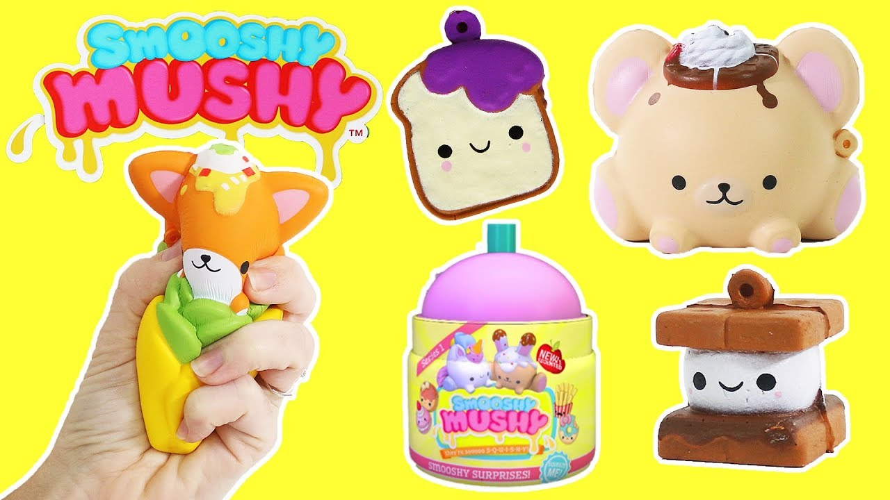 Smooshy Mushy Series 2 - Squishies Squishy Slow Rise Squish Scented Toys - YouTube