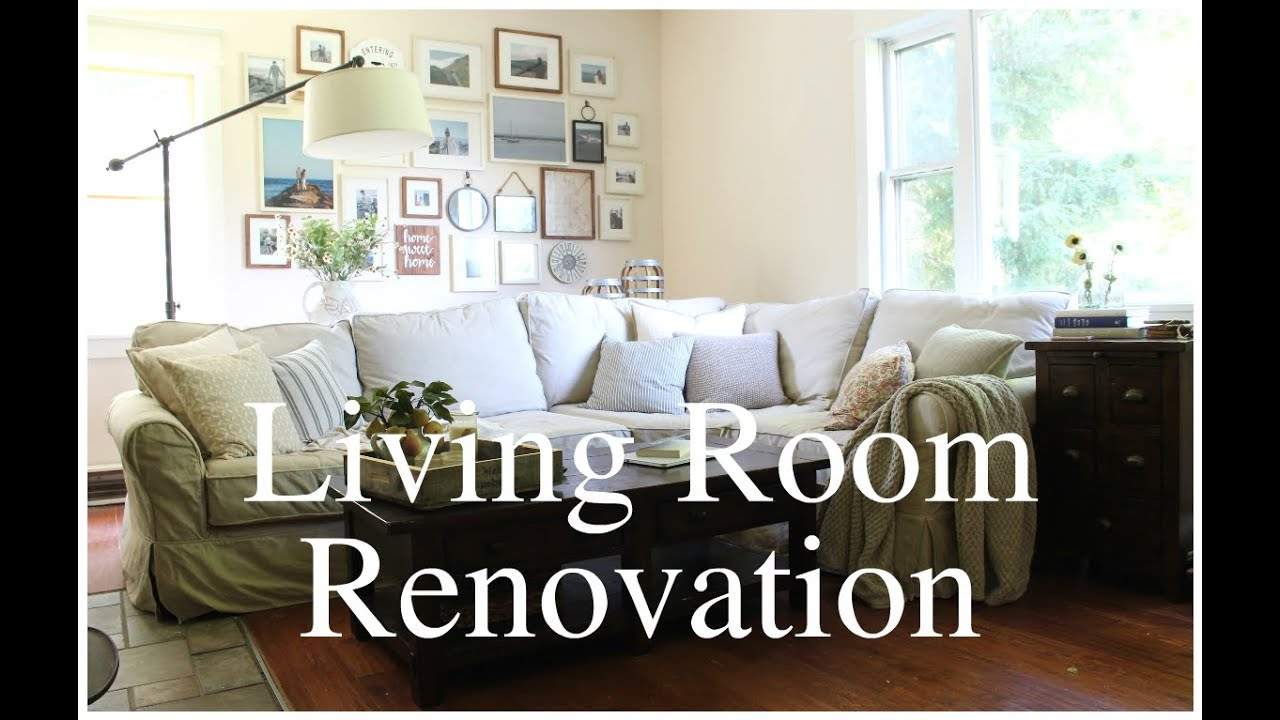 Living Room Renovation Before And After living room renovation: before & after - youtube